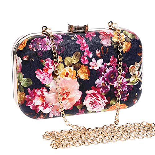 Leather Peony Bag Handbag Party Clutch Cocktail Wedding Shoulder Handbag Purse Evening 1 Faux IBELLA Flower UHqgHF