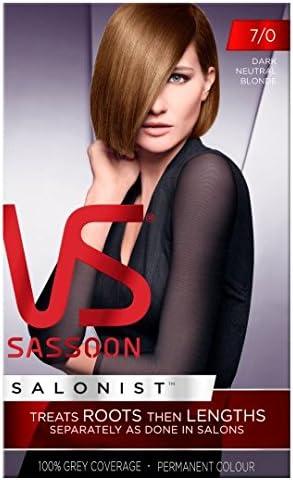 Vidal Sassoon tinte de pelo rubio oscuro neutro 7/0: Amazon ...