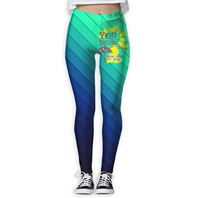 You Are My SUNSHINE Creative Health Fitness Women Yoga Pants Leggings Power Flex