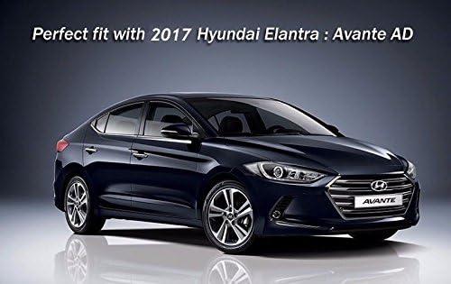 Dual Rear Diffuser Muffler Gloss Black Fits: Hyundai 2017+ Elantra Avante AD