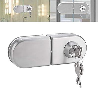 Glass Door Lock with Keys Open//Close Home Hotel Bathroom Office Business Use 10~12mm Glass Door Lock