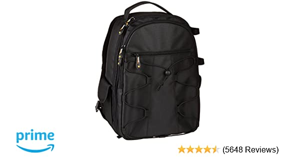6a1e88034d79 Amazon.com   AmazonBasics Backpack for SLR DSLR Cameras and Accessories -  Black   Photographic Equipment Bags   Camera   Photo
