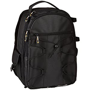 AmazonBasics Backpack for SLR/DSLR Cameras and Accessories – Black