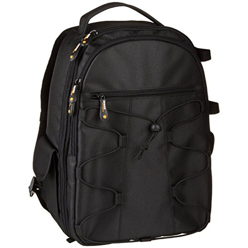 Canon Deluxe Backpack - AmazonBasics Backpack for SLR/DSLR Cameras and Accessories - Black