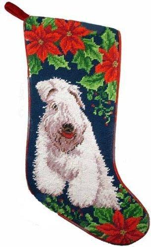 Soft Coated Wheaten Terrier Dog Needlepoint Christmas Stocking by ED