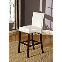 ACME Furniture 96169 Jakki Counter Height Chair (Set of 2), Black PU