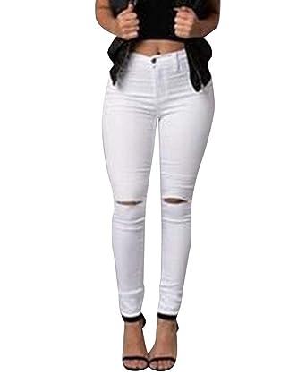 BoBo 88 Jeans da Donna A Vita Alta Elasticizzato con Stlie