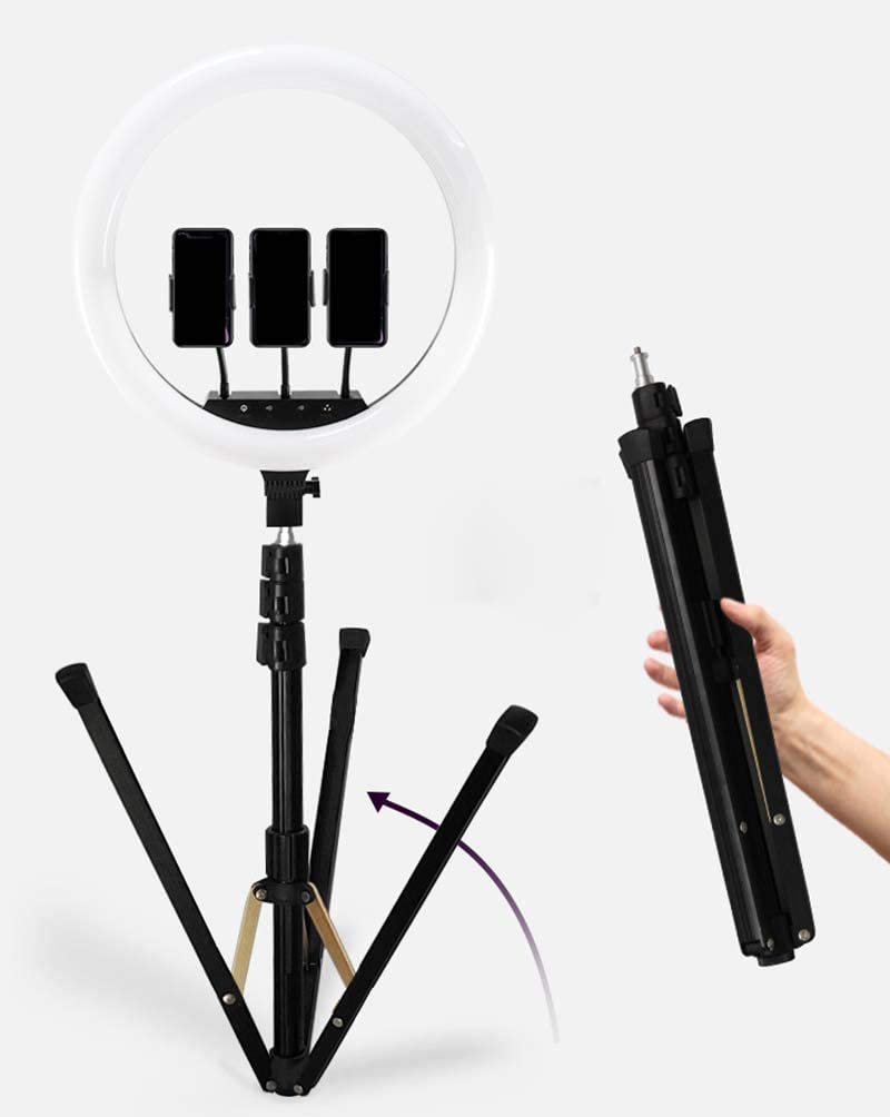 XYSQWZ Led Ring Light 18 Inch Dimmable LED Ring Light Kit with Phone Holder Hot Shoe Adapter for Selfie Portrait YouTube Video Shooting