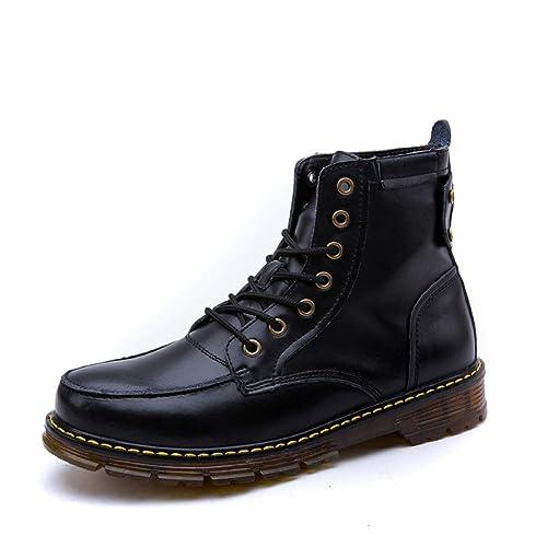 WDYY, Otoño E Invierno, Botas Martin, Botines para Hombre, Botas Militares, Zapatos Casual De Cuero De Inglaterra.: Amazon.es: Zapatos y complementos