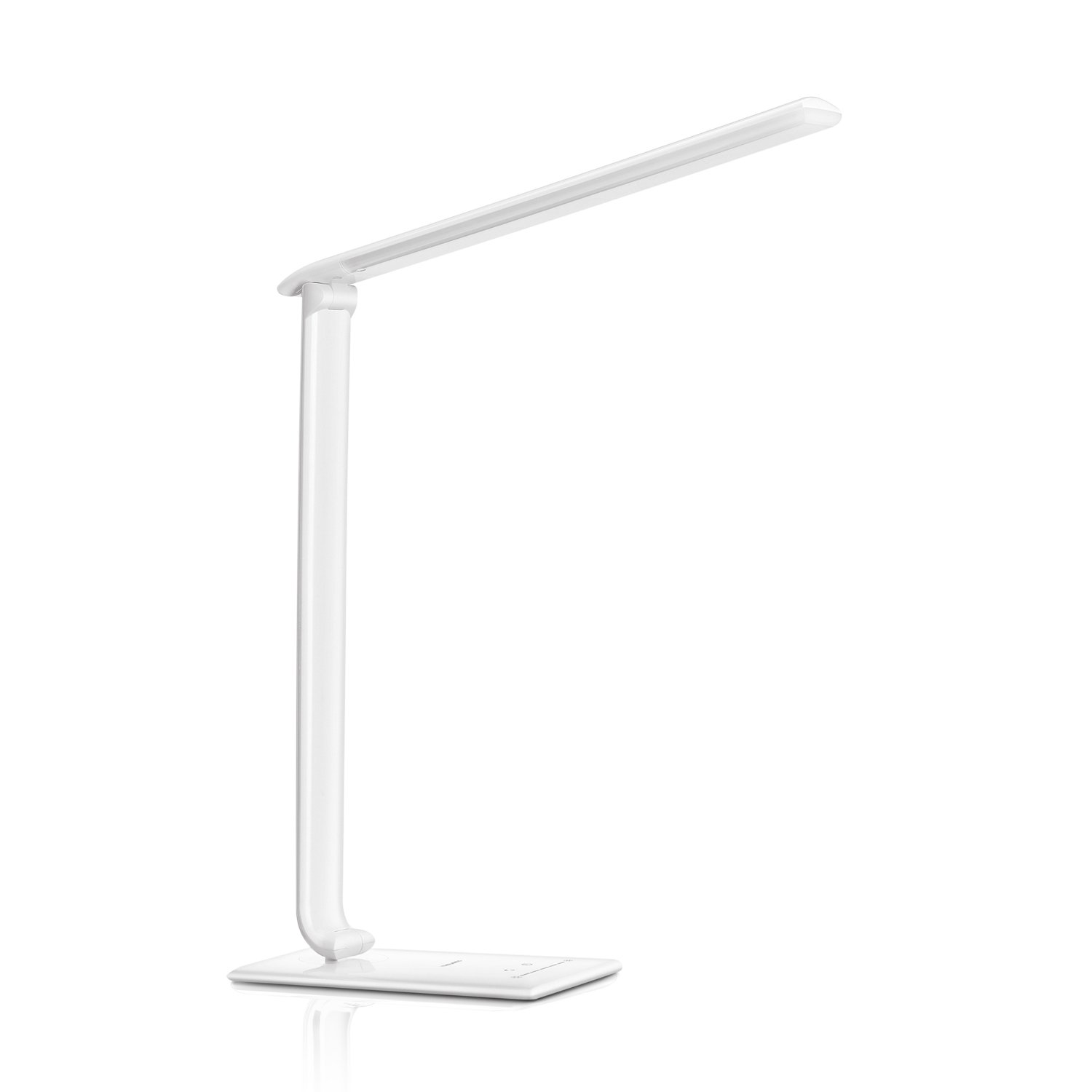 Dimmable LED Desk Lamp with USB Charging Port, Rechargeable Touch Control Table Reading Lamp, Foldable Office Light with Natural Light, Eye-Caring Task Lamp for Painting/Bedroom/College/Office