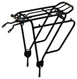 "Ibera Bike Rack - Bicycle Touring Carrier Plus+ for Non-Disc Brake Mount, Frame-Mounted for Heavier Top & Side Loads, Height Adjustable for 26""-29"" Frames"