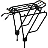 """Ibera Bike Rack - Bicycle Touring Carrier Plus+ for Non-Disc Brake Mount, Frame-Mounted for Heavier Top & Side Loads, Height Adjustable for 26""""-29"""" Frames"""