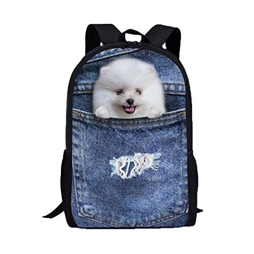 3D Animal Imprimir perro perro bolsas de hombro, mochila de la universidad pro Morwind C