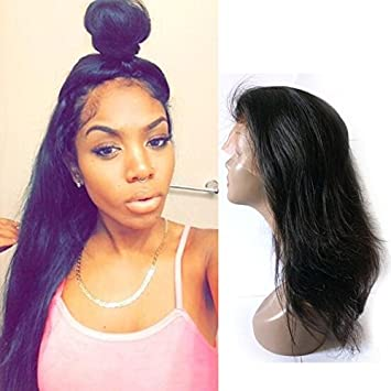 Amazon Com Fanshow Hair Pre Plucked 360 Lace Wig Straight