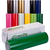 Greenstar 12 Roll Bundle - 12in x 5yd Sign Vinyl, High Gloss Colors, Self Adhesive-Backed for Craft Cutters