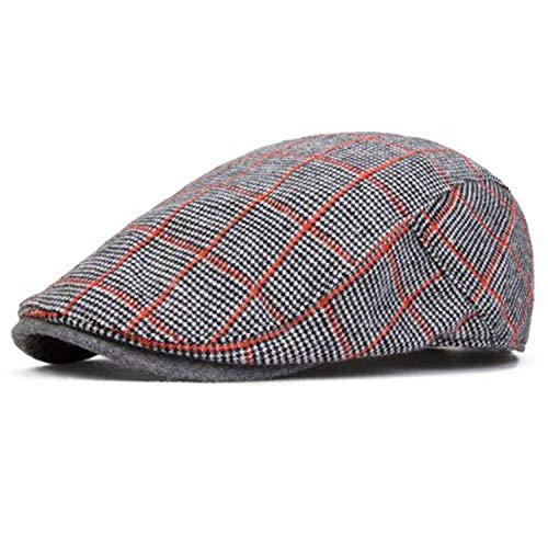 2018 Rushed Hats for Berets Beret Male Autumn and Winter Cap Men Vintage Shopping Fashion Casual Personality Dark Grey -