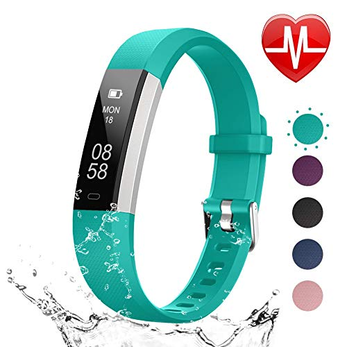 (LETSCOM Fitness Tracker HR, Heart Rate Monitor Watch with Sleep Monitor Step Counter Pedometer, Waterproof Smart Fitness Watch, Activity Tracker for Kids Women and Men)