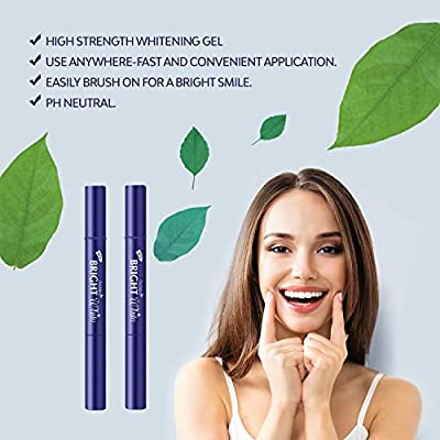 Painless Teeth Whitening Pen, Safe 35% Carbamide Peroxide Gel, Instantly Whitens for Beautiful Bright Smile, No Sensitivity, Portable, Effortless, 20+ Uses, Natural Mint