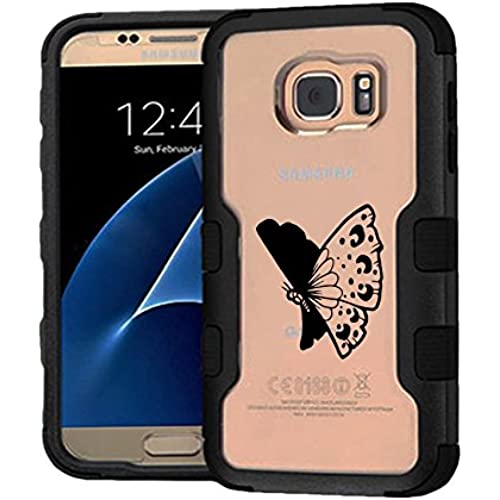 Galaxy S7 Case Tattoo Butterfly, Extra Shock-Absorb Clear back panel + Engineered TPU bumper 3 layer protection Sales