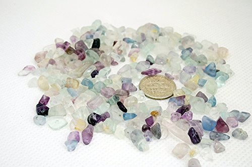 PURPLE FLUORITE 4-10mm Gemstone Nugget Chip Loose Beads Birthstone Jewelry Making (Pack of 40 Gram)