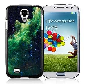 Samsung Galaxy S4 Case Elegant Galaxy Design TPU Durable Soft Silicone Black Phone Cover