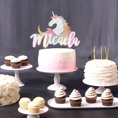 Personalized Unicorn Cake Topper, Unicorn Toppers, Fantasy Cake Topper, Unicorn Party Decor, Fairy Tale Engagement, Rainbow Birthday