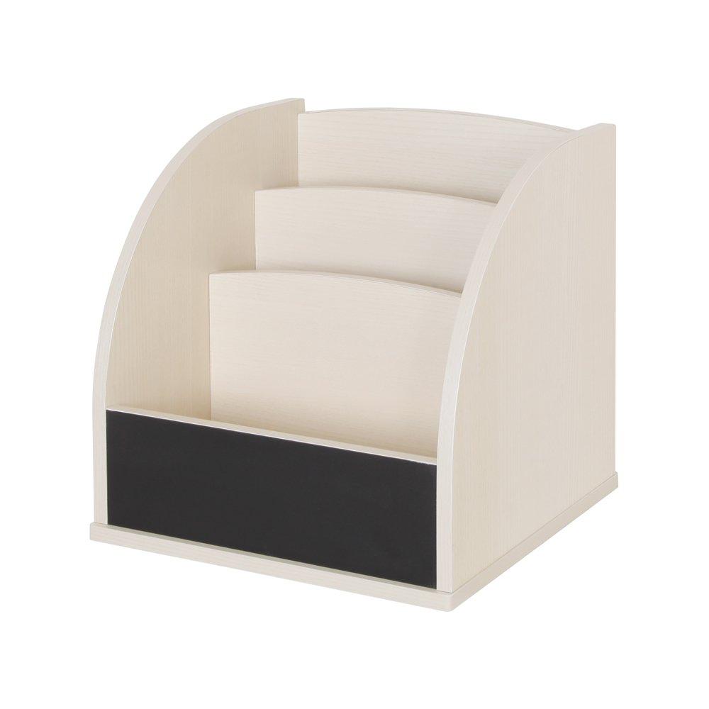 【JAJAN】[国産]黒板ユニットラック『ブランキー』マガジンタイプ ホワイトアッシュ【おまけチョーク付き】[完成品][キッズ家具][低ホルムアルデヒド][合わせて3個以上購入で5%OFF] B01M0S58V6