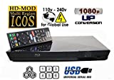 SONY S1200 Multi System Region Free Blu Ray Disc DVD Player - PAL/NTSC - USB - Comes with 110-240 Volt World-Wide Use & 6 Feet HDMI Cable by Sony