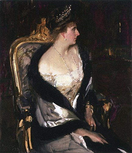 Cutler Miles Victoria Eugenia, Queen Of Spain by Joaquin Sorolla Y Bastida Hand Painted Oil on Canvas Reproduction Wall Art. 18x20 by Cutler Miles