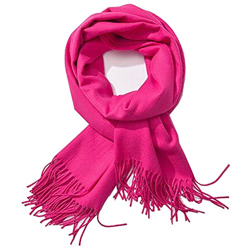 Bien-Zs Women's Fashion Long Shawl Winter Warm Large Scarf for Chistmas/Party/Outdoor etc. (Pink)
