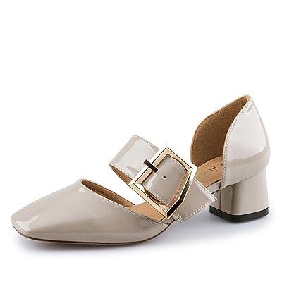 Été Simple,Rétro,Chaussures à Tête Carrée/Sandales à Talon Chunky