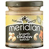 Meridian Cashew Butter - Smooth 100% Nuts [170g] (Pack of 3)