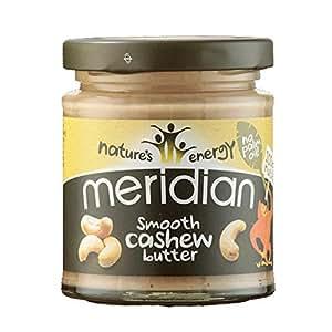 Meridian - mantequilla de anacardo y frutos secos, 170 g (paquete de 3)
