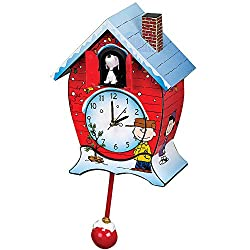 Mark Feldstein Peanuts Christmas Linus and Lucy Song Cuckoo Clock