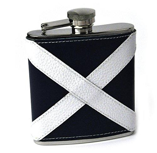 Cheap Artamis Scotland Flag Deluxe Leather Scottish Hip Flask