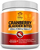 Image of Cranberry Treats for Dogs - Urinary Tract & Bladder Pet Food Supplement - Antioxidant & Anti-Inflammatory for UTI Support - D-Mannose & Organic Marshmallow + Licorice - 90 Chicken Liver Chews