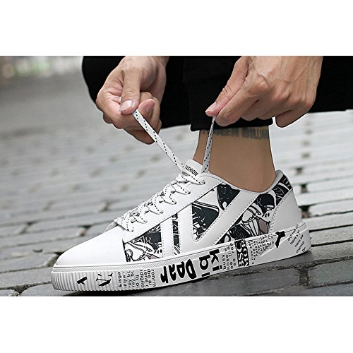 DeLamode Men Colorful NIKEDUNKSB Skater Shoes Young Student Literature Art FISCHER Cloth VANS Grey YfoZw8td