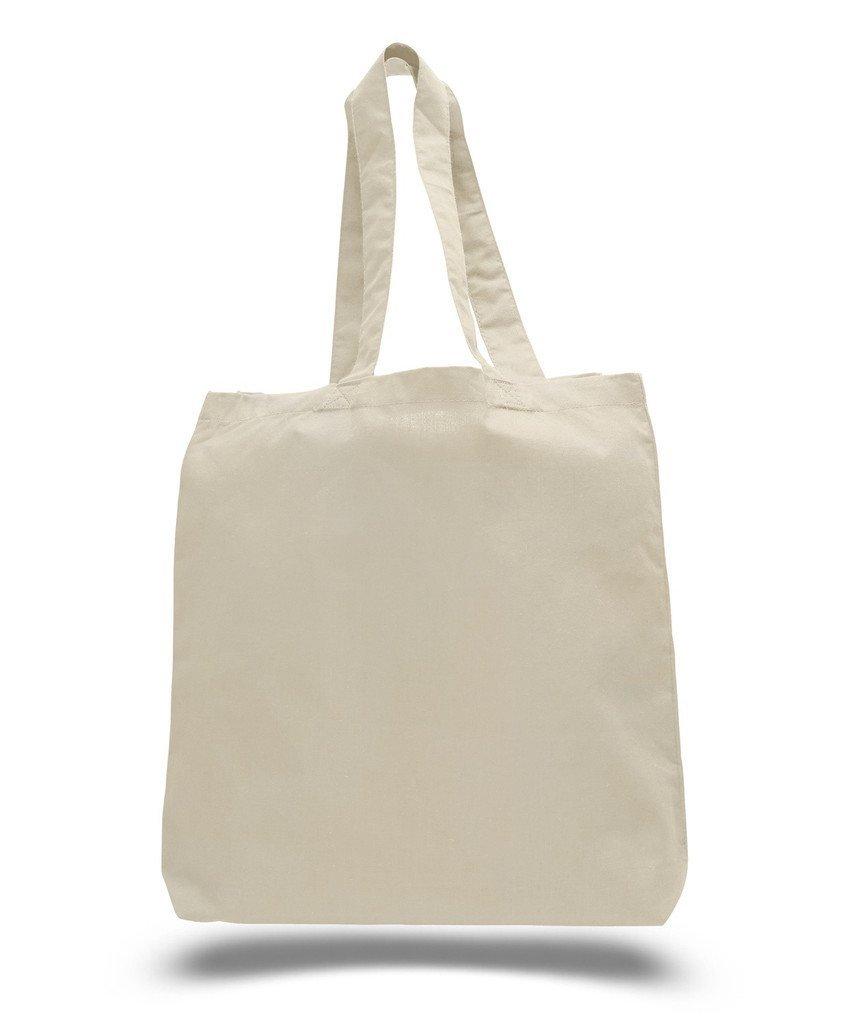 BagzDepot Eco Friendly Natural Cotton Canvas Tote Bag 15 X 16 X 3 Shopping Bag, Craft Bag, Beach Bag, Grocery Bag, Travel Bag, Tote Bag for School, DIY project tote, Book Bag by Q-Tees of California B01GAH43F4 ナチュラル|3 ナチュラル