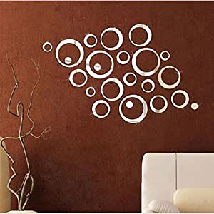 Crystal wall stickers acrylic solid three-dimensional environmental circle ring stickers bedroom living room