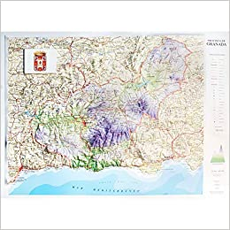 Mapa en relieve de Granada: Escala 1:400.000: Amazon.es: All 3D Form, S.L.: Libros