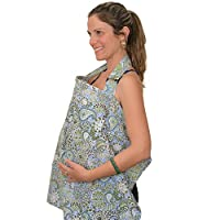 IntiMom Nursing Cover, Baby Breastfeeding Cover, Wide Hooter Hider Made of th...