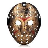 Kston Novelty Halloween Mask Creepy Costume Party Hockey Jason VS Freddy Mask Prop (Bronze)