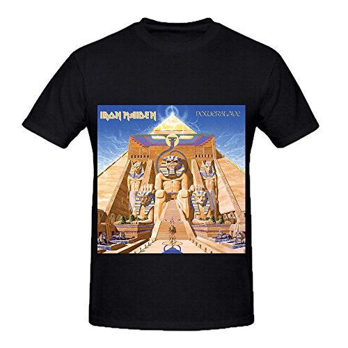 Iron Maiden Powerslave 80s Men O Neck Cotton T Shirts Black (80s Male)