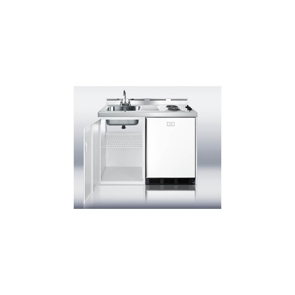 All In One Kitchen Appliance.Summit C48el Kitchen All In One Combination Unit White