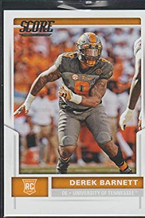 Amazon.com  2017 Score Derek Barnett Eagles Rookie Football Card ... 19f80a5923f8a