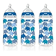 NUK Fashion Orthodontic Bottle Elephant Style, 10 Ounce, 3 Count