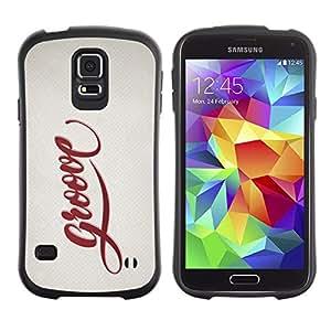 Suave TPU GEL Carcasa Funda Silicona Blando Estuche Caso de protección (para) Samsung Galaxy S5 / CECELL Phone case / / Groove Quote Slogan Sign Badge Life Style /