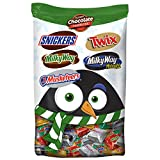 SNICKERS, TWIX, MILKY WAY & 3 MUSKETEERS Christmas Candy Minis Size Variety Mix 37.26-Ounce Bag