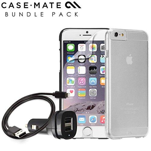 Case-Mate FT105104 Bundle für Apple iPhone 6/6s (Schutzhülle, Auto Ladegerät, Displaychutzfolie) klar