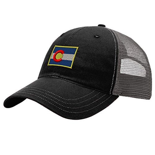Speedy Pros Colorado Flag State Embroidery Design Richardson Cotton Front and Mesh Back Cap (Twill Front Mesh Back Cap)